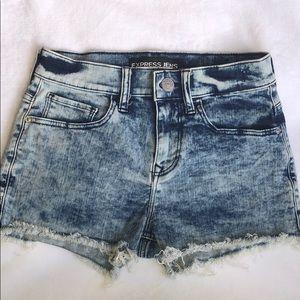 Express high waisted jean denim shorts size US 2